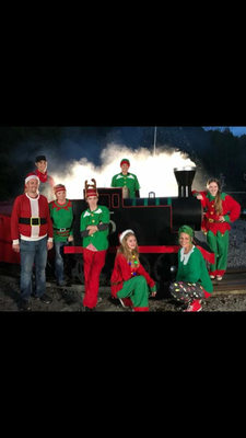 Stewart family Christmas lights train