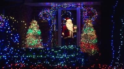 Santa in the Door