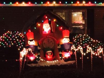 Santa stands guard