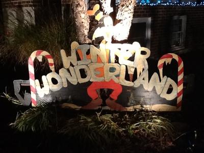 Disney themed Winter Wonderland