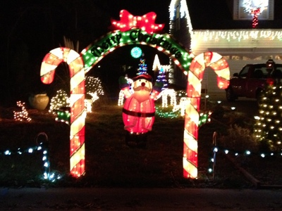 Candy Cane archway