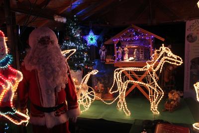 Santa and Nativity