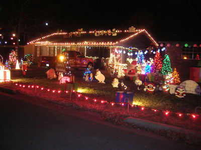Ganes Family Christmas Display