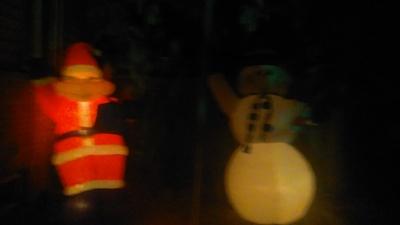 Santa and frosty