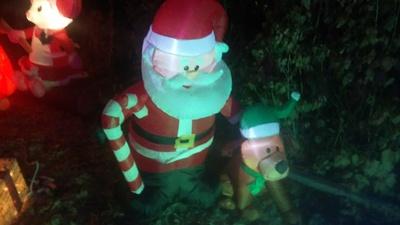 Santa and his loyal dog
